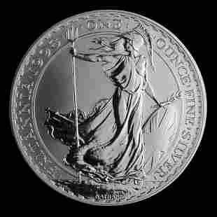 1998 1 oz Uncirculated Silver Britannia