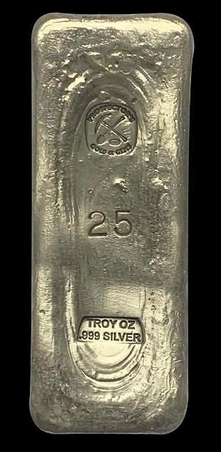 25 oz Silver Bar .999 Prospector's Gold & Gems