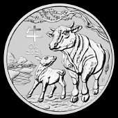 2021 Australia 1 oz Silver Lunar Ox Uncirculated Series