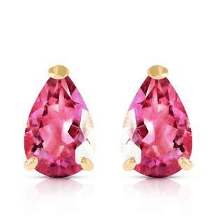 3.15 Carat 14K Solid Gold Gem Of A Woman Pink Topaz Ear