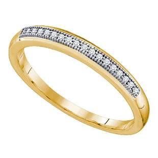 10k Yellow Gold Womens Round Diamond Bridal Wedding Ann