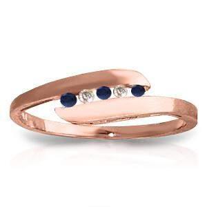 0.25 Carat 14K Solid Rose Gold Ring Channel Set Diamond