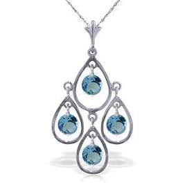 1.2 Carat 14K Solid White Gold Call The Tune Blue Topaz