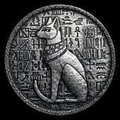 1/2 oz Silver UHR Relic Round - Egyptian Cat Goddess Ba