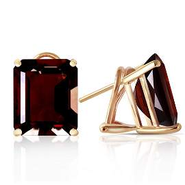 14 Carat 14K Solid Gold Distinction Garnet Earrings