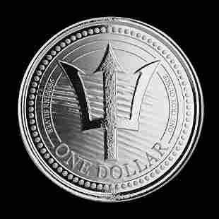 2020 Barbados 1 oz Silver Trident Uncirculated