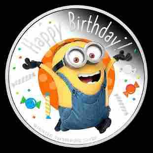 2020 Niue 1 oz Silver $2 Minion Made - Happy Birthday P