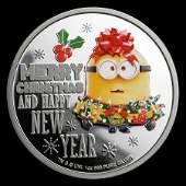 2019 Niue 1 oz Silver $2 Despicable Me: Christmas Minio