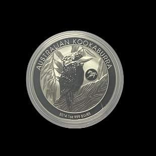 Australian Kookaburra 1 oz. Silver 2014 (Horse Privy)