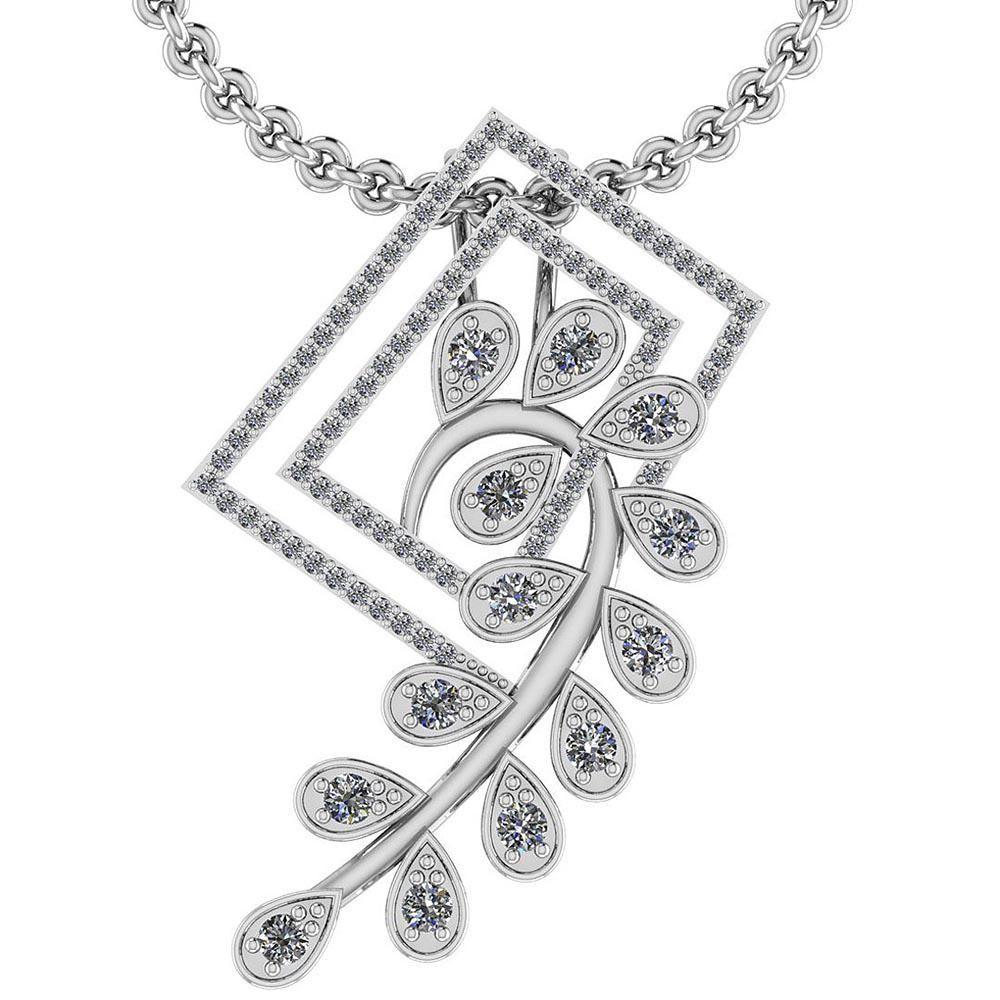 Certified 1.00 Ctw Diamond VS/SI1 Style Prong Set Penda