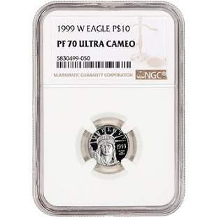 1999 W American Platinum Eagle Proof 1/10 oz $10 NGC PF