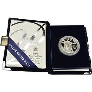 2004 W American Platinum Eagle Proof 1 oz $100 in OGP