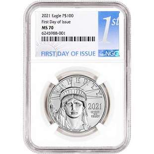 2021 American Platinum Eagle 1 oz $100 NGC MS70 First D