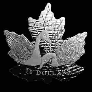 2016 Canada 1/2 oz Silver $10 Proof Maple Leaf Silhouet