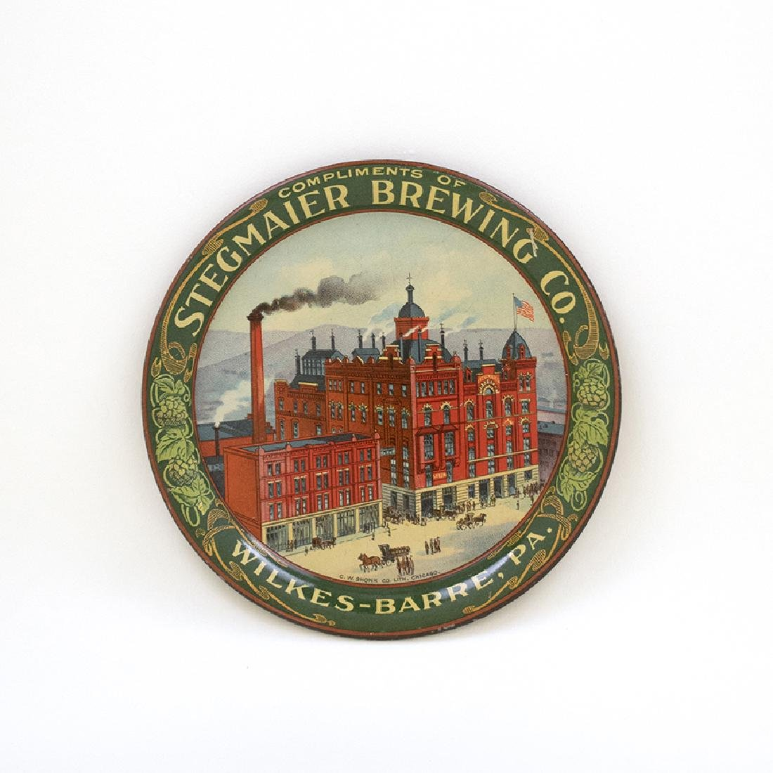 Stegmaier Round Factory Scene Tip Tray