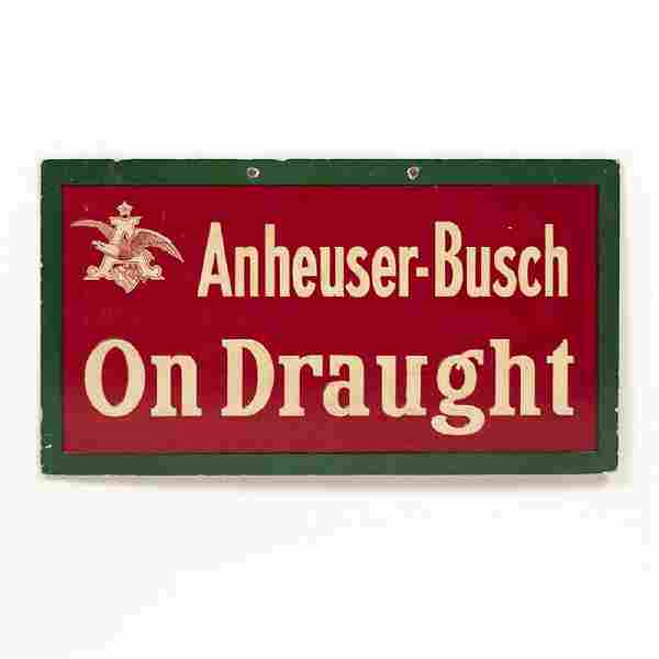 Anheuser-Busch On Draught Embossed Sign