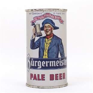 Burgermeister Pale Beer Flat Top Can