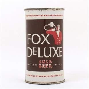 Fox Deluxe Bock Beer Flat Top Can