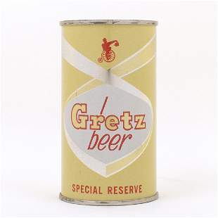 Gretz Beer Special Reserve Flat Top Can 7437