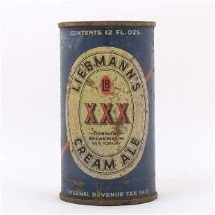Liebmanns XXX Cream Ale Flat Top Can