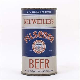 Neuweilers Pilsener Beer Instructional Flat Top