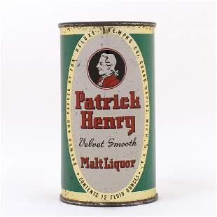 Patrick Henry Velvet Smooth Malt Liquor Can