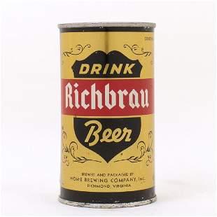Ricbrau DRINK Beer Gold ENAMEL Flat Top