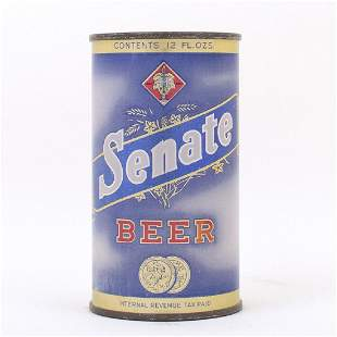 Senate Beer Flat Top Can 13214 Code 17 1939