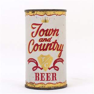 Town and Country Beer Can Pacific Brewing