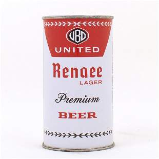 United Renaee Lager Premium Beer Can
