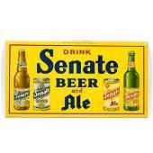 Senate Beer Ale Cans Bottles TOC Sign