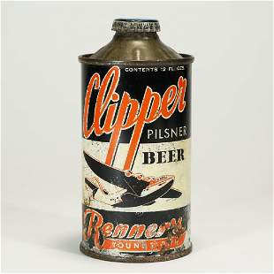 Clipper Pilsner Beer Renner Cone Top Can