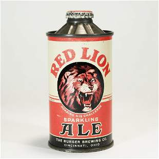 Red Lion Sparkling Ale FLAT BOTTOM Cone Top Can