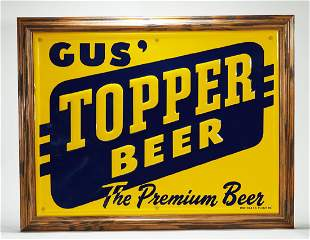 Gus' Topper Beer Tin Sign