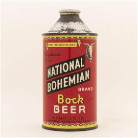 National Bohemian Bock Cone Top Can EXCEPTIONAL-RARE