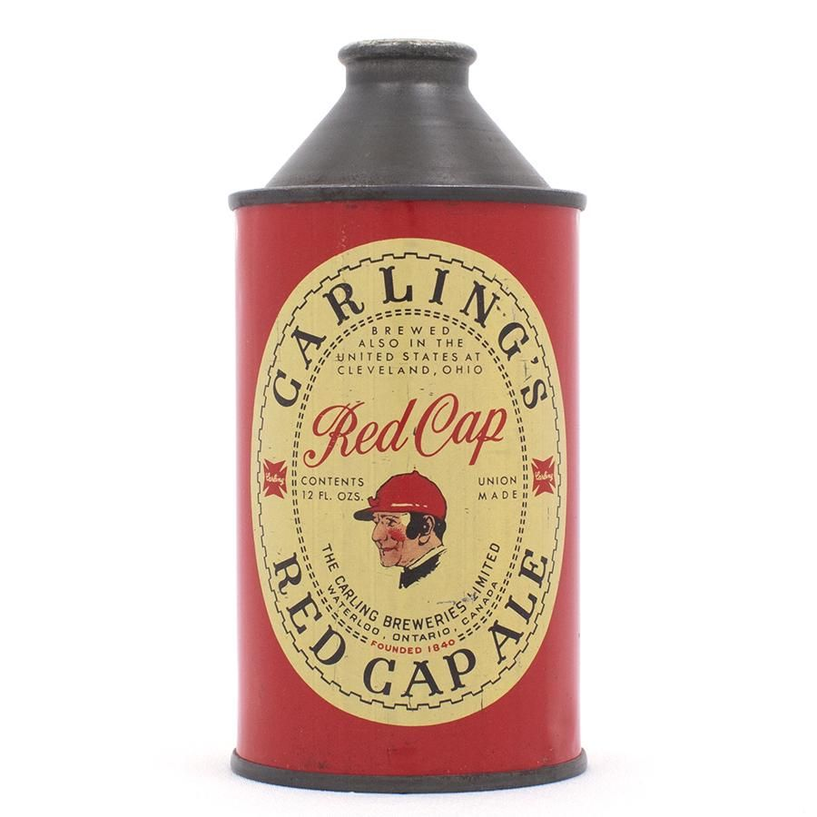 Carlings Red Cap Ale Canadian Cone Top Can