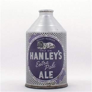 Hanleys Ale Purple Bulldog Crowntainer Cone Top USBC