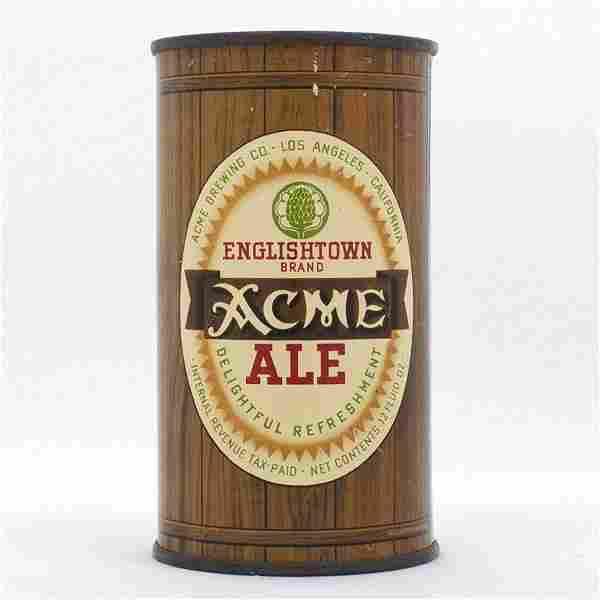 Acme Englishtown Ale Flat Top Can USBC 28-21