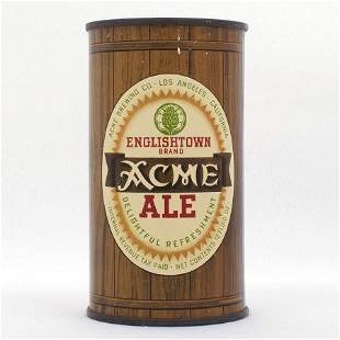 Acme Englishtown Ale Flat Top Can USBC 2821