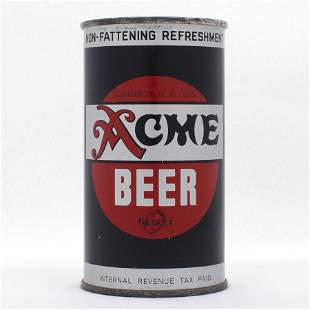 Acme Beer Opening Instruction Flat Top USBC 2840
