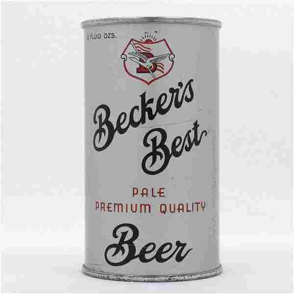 Beckers Best Opening Instruction Beer Can USBC 35-24