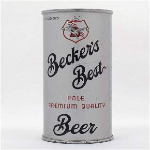 Beckers Best Opening Instruction Beer Can USBC 3524