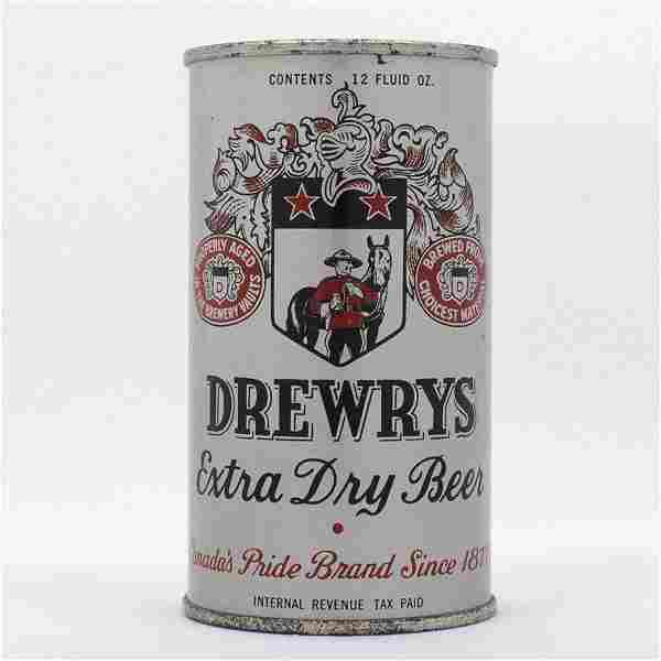 Drewrys Beer Opening Instruction Flat Top Can USBC