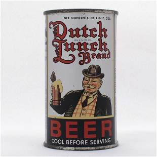 Dutch Lunch Beer Instructional Flat Top Can USBC 5730