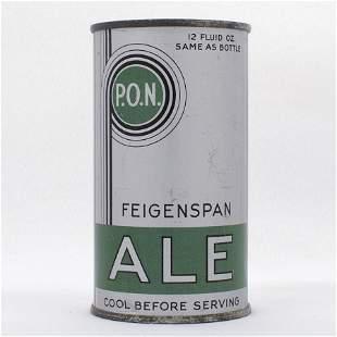 Feigenspan PON Ale Long Opener Flat Top Beer Can USBC