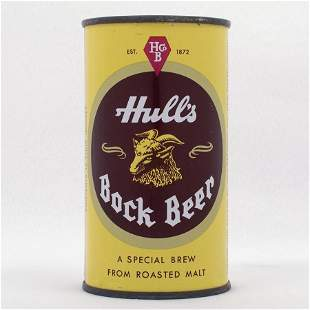 Hulls Bock Flat Top Beer Can USBC 8428
