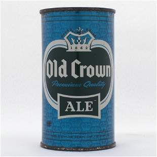 Old Crown Ale Blue Set Can Flat Top USBC 1051