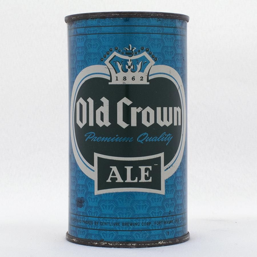 Old Crown Ale Blue Set Can Flat Top USBC 105-1