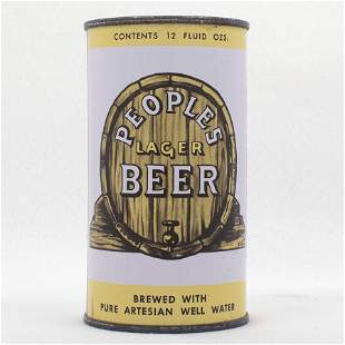 Peoples Beer Flat Top Can USBC 1137