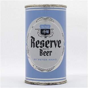 Peter Hand Reserve Flat Top Beer Can USBC 11335